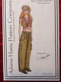 """""""Melrose Avenue"""" Ellowyne Wilde 16"""" Doll Pattern Uncut Adams-Harris Pattern"""