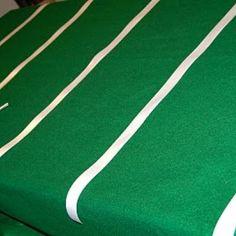 Easy Football Field Table Cloth
