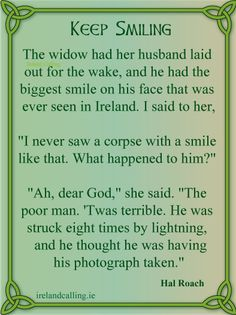 Hal Roach was a popular comedian in Ireland for more than half a century. Here are some of his best jokes. Funny Irish Jokes, Irish Humor, Irish Quotes, Irish Sayings, Quotes Quotes, Native American Quotes, American Symbols, American Indians, Irish Symbols
