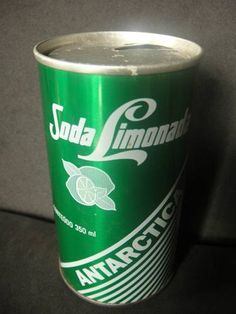 Rara Lata De Ferro Soda Limonada Antarctica - Anos 80 - F109 - R$ 50,00