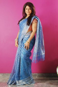 Tangail Saree Kutir is a home of outstanding and gorgeous Bangladeshi sarees. Situated at heart of dhaka, we are providing the best collection sarees for you and also making our bengali culture more proud. Jamdani Saree, Sarees, Bangladeshi Saree, Bengali Culture, Fancy, Indian, Formal Dresses, Closet, Blue