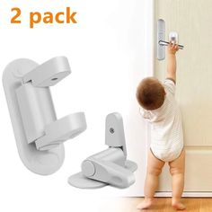 2 Pack Door Lever Lock Child Safety Proof Doors & Handles Adhesive – All For Decoration Home Gadgets, Gadgets And Gizmos, Child Safety Locks, Door Levers, Childproofing, Useful Life Hacks, Home Accessories, Children, Kids
