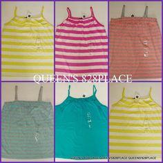 NWT Gymboree Girls GapKids Ribbed Tank Top Choose Color /& Size