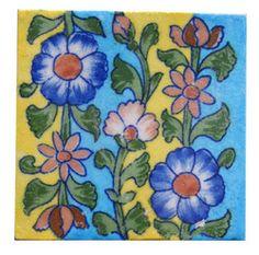 Indian Blue Pottery Tile