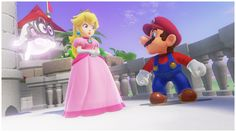 Peach & Mario's Vacation: Mushroom KingdomHer model is absolutely unbelievable. Peach in-game looks better than Peach in promotional renders did not even five years ago. Nintendo has character art. Mario Kart, Mario Bros, Peach Mario, Mario And Princess Peach, Super Mario Art, Super Mario World, Nintendo Sega, Nintendo Switch, Mario All Stars