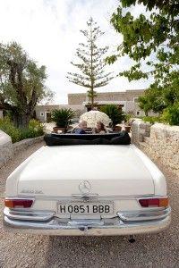 Vintage Mercedes car for weddings or events