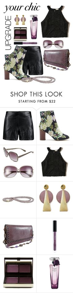 """Mistress of the Dark"" by daincyng ❤ liked on Polyvore featuring Boohoo, Sole Society, Marc by Marc Jacobs, Hollister Co., History + Industry, Yves Saint Laurent, Huda Beauty, Kevyn Aucoin, Lancôme and unexpectedtrend"