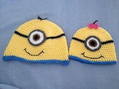 Despicable me crochet hats $10