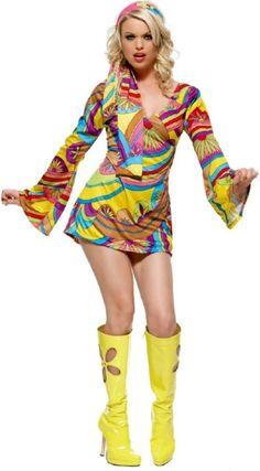 Hippie Dress Women Costume  sc 1 st  Pinterest & 64 best Flower Power / Hippie Outfits images on Pinterest | Hippie ...