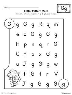 Letter A Pattern Maze Worksheet   Letter patterns, Maze and Worksheets