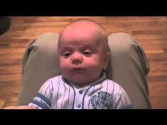 A baby cries when his dad imitates chewbacca. - YouTube