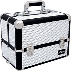 Sunrise Professional Makeup Artist Cosmetic Train Case Organizer Storage, Krystal White -- Find out more about the great product at the image link. (This is an affiliate link and I receive a commission for the sales) Makeup Organization, Storage Organization, Professional Makeup Case, Cosmetic Train Case, Storage Compartments, Beauty Industry, Makeup Yourself, Makeup Brushes, Cosmetics