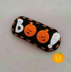 boo-mini-pumpkin-wool-felt-snap-hair clip