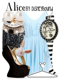 Alice in Wonderland outfit by Disney Bound Disney Themed Outfits, Disney Bound Outfits, Disney Dresses, Disney Clothes, Alice In Wonderland Outfit, Wonderland Costumes, Wonderland Party, Disney Inspired Fashion, Disney Fashion