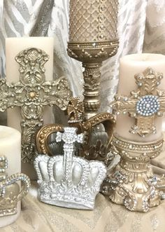 Sir Oliver's scented designer candles, bases and Home Decor accessories featuring Swarovski Crystals by Reilly-Chance Collection