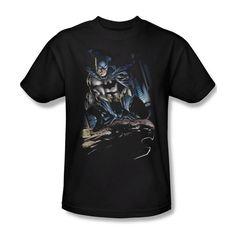 Batman Perched Gotham DC Comics Youth Ladies Jr V-Neck Men Long Sleeve Tank Top T-shirt