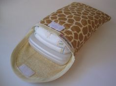 Giraffe Diaper and Wipe Caseclutchpouch SO CUTEMore by bump2baby, $14.99