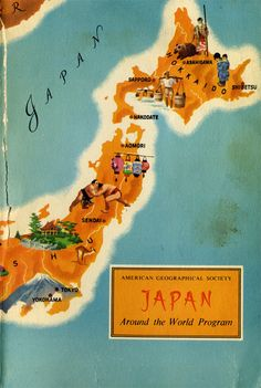 Book Cover: Japan. Around the world. 1959. - Gurafiku: Japanese Graphic Design