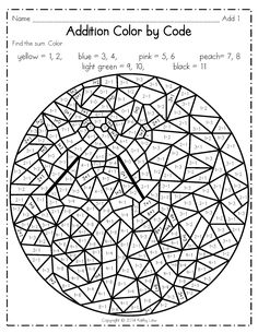 Math Coloring Worksheets Grade New Coloring Math Coloring Worksheets Grade Tremendous Second Grade Math, First Grade, Colouring Pages, Coloring Sheets, Math Coloring Worksheets, Kindergarten Worksheets, Christmas Math, Math Addition, Color By Numbers