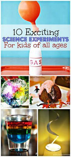 10 Fun science experiments your kids will go crazy for! http://www.beingreese.com/2013/06/10-fun-science-projects-for-your-kids.html     - Density, egg geodes, rain in a bottle, sound waves, hot air, coconut volcanoes, melting ice. Good for stations or a sensory day for science inquiry.