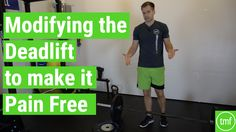 Modifying the #Deadlift to Make it Pain Free - The Movement Fix  #strength #fitness