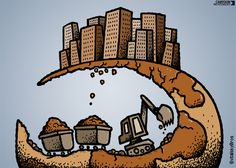 In the last 30 years, global resource extraction has grown 45%. Today's cartoon: 'Plundering the Earth' by the Svitalsky Bros.