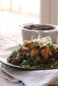 salmon and quinoa with toasted seeds via holly and rose(a recent discovery for me, but one to bookmark)