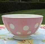 フランスアンティークDigoinカフェボウルピンクドット Antique bowl cafe ¥16000yen 〆04月22日