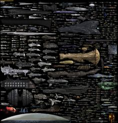 Incredibly Massive Chart of Every Sci-Fi Starship Ever Excuse the horribly scrunched image above, but holy shit is it cool. Deviant Art user, Dirk Loechel, created this massive comparison chart of nearly every sci-fi starship ever created. It's got Halo, Star Trek, Star Wars, Warhammer, and so much more. Dirk says he's going to add even more starships to the image in the new couple of weeks. Click through the photo to open up the high resolution image to its full capacity.