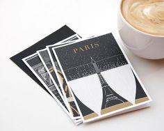 ParisGrußkarte festgelegt Paris Illustration von TheParisPrintShop
