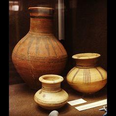 Painted pottery jars. Dynasty XVIII. Abydos. (Bolton)
