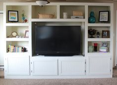 Holiday small space organization the interior project styling diy built in home entertainment center solutioingenieria Gallery