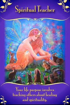Spiritual Teacher - Magical Messages From the Fairies Doreen Virtue, Oracle Tarot, Oracle Deck, Angel Guide, A Course In Miracles, Angel Cards, Spiritual Teachers, Spiritual Guidance, Spiritual Awakening