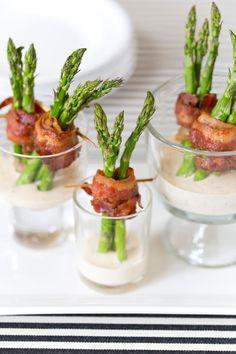 Bacon Wrapped Asparagus Appetizer | Pizzazzerie.com