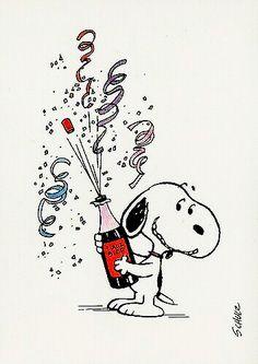 Silvester - Snoopy & Co. Snoopy Feliz, Snoopy Und Woodstock, Happy Snoopy, Funny Happy Birthday Wishes, Birthday Greetings, Funny Birthday, Happy Birthday Snoopy Images, Happy New Year Funny, Birthday Sayings