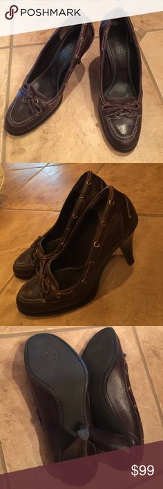 Bally leather shoes Made in Italy, size 37 1/2, worn in great condition Bally Shoes Heels