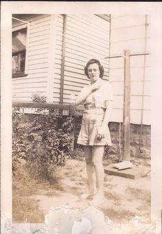 Virginia Maxine Mathie, my mother, daughter of Clarence Floyd Mathie & Edith Helen Hacker.