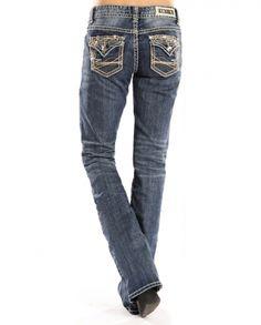Rock & Roll Cowgirl® Ladies' Boyfriend Fit Flap Pocket Jeans - Fort Brands