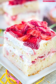 Strawberry Shortcake Cake!!