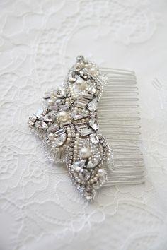 Art deco bridal hair comb | Percy Handmade