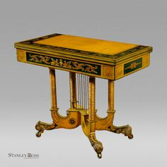 An Important Classical Gilt and Paint Decorated Games Table c 1815