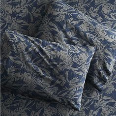 The Hill-Side tropical leaves full sheet set  | CB2