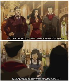 You jelly, Korra? :)) #korra #mako #asami