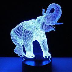 Night Lights Colorful Lovely Led Elephant Shape Night Light Lamp To Invigorate Health Effectively