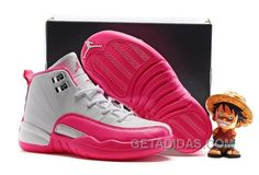 """f71337842f813e Find Kids Air Jordan 12 """"Vivid Pink"""" 2016 For Sale online or in  Pumarihanna. Shop Top Brands and the latest styles Kids Air Jordan 12  """"Vivid Pink"""" 2016 For ..."""