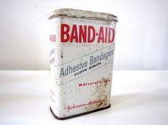 Vintage BandAid Tin Box