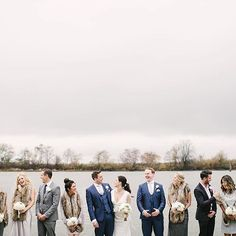 Winter Wedding | Bridal Party | Group Photo | Lower Docks | John MS Lecky UBC Boathouse | Photo: @wkrutzfeldt