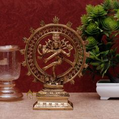 Mahayogi Lord Shiva Seated on Lion Skin Brass Statue with Inlay