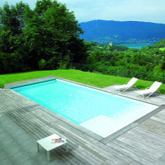 1000 ideas about liner piscine on pinterest interieur for Piscine 8x4 avec plage