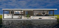 Nieuwbouw ontwerp woonboot | houseboat architect Amsterdam
